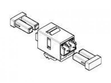 LC tipo dvigubas optinis perėjimas MM OM3, keystone 3