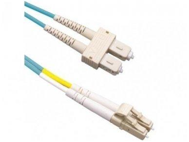 LC/SC dvigubas daugiamodis OM3 komut. kabelis 3m S3