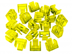 RJ45 lizdo blokatorius, 20vnt., geltonas