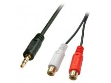 Lindy 0.25m AV Adapter Cable - 3.5mm Male to 2 x RCA Female