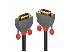 Lindy 0.5m DVI-D Dual Link Extension Cable. Anthra Line