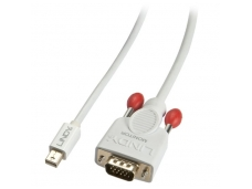 Lindy 0.5m Mini DisplayPort To VGA Passive Cable. White