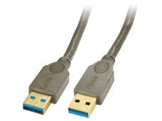 Lindy 0.5m USB 3.0 Cable Type A Male to Type A Male. Anthracite