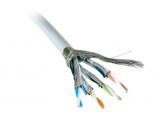 Lindy 100m Reel CAT6 S/FTP Stranded Bulk Network Cable. Grey