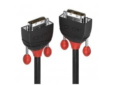 Lindy 10m DVI-D Single Link Cable. Black Line