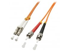 Lindy 1m LC-ST OM2 50/125 Fibre Optic Patch Cable
