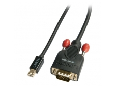 Lindy 1m Mini DisplayPort To VGA Passive Cable. Black