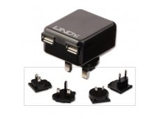 Lindy 2 Port USB Travel Charger