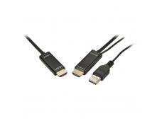 Lindy 20m Fibre Optic Hybrid 4K HDMI 2.0 18G Cable. Black