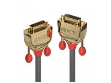Lindy 2m DVI-D Dual Link Extension Cable. Gold Line