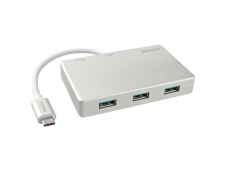Lindy 3 Port USB 3.1 Type C Hub with USB Power Delivery