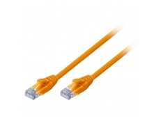 Lindy 3m CAT6 U/UTP Snagless Gigabit Network Cable. Orange