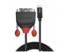 USB-C 3.1 į DVI-D kabelis 3m 1920x1200 60Hz
