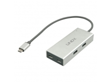 Lindy 4 Port USB 3.1 Hub. Type C to 2 x Type A and 2 x Type C