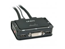 Lindy Compact 2 Port KVM Switch - DVI. USB 2.0 & Audio