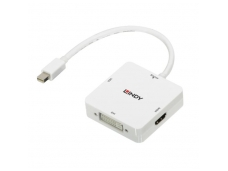 Lindy Mini DisplayPort 1.2 to HDMI 2.0. VGA and DVI-D Active Adapter Converter
