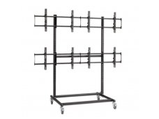 Lindy Mobile Plasma. LED and LCD 2x2 Trolley Stand for Video Wall