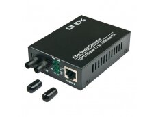 Lindy ST 10/100Base-TX to 100Base-FX Multi-mode Fibre Media Converter. 2km