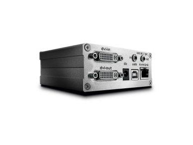 Lindy 130m Cat.6 DVI-D Single Link. USB 2.0 and Optional Audio or RS232 KVM Extender. Transmitter