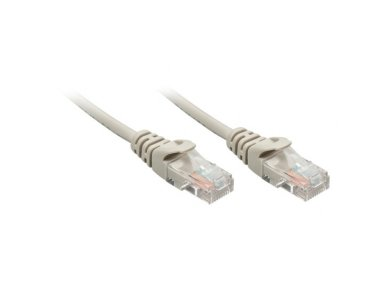 Lindy 15m CAT5e U/UTP Snagless Network Cable. Grey