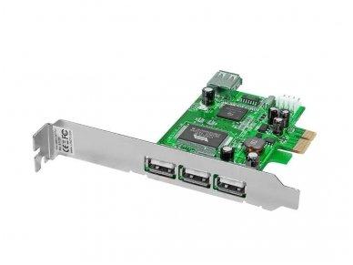 Lindy 3 + 1 Port USB 2.0 Card. PCI Express Bus