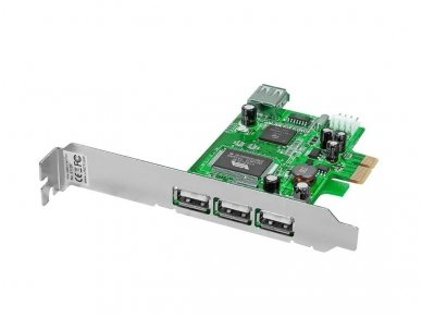 Lindy 3 + 1 Port USB 2.0 Card. PCI Express Bus