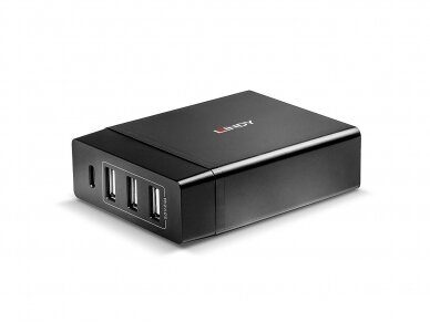 Lindy 4 Port USB Type C and A Smart Charger with Power Delivery. 72W 5
