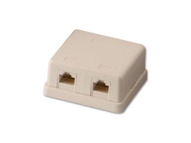 Lindy CAT6 Double Wall Mount Box UTP. RJ-45. T568A/T568B