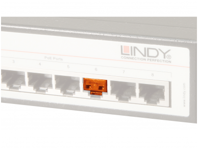 Lindy RJ45 Port Blocker Orange 2