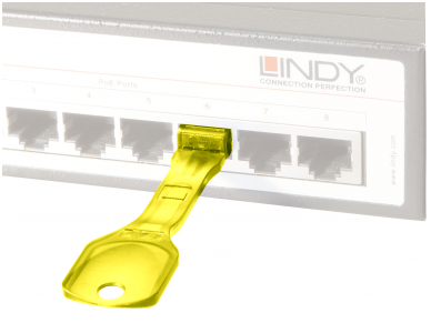 Lindy RJ45 Port Blocker Yellow 2