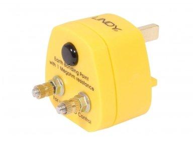 Lindy UK Anti-Static Earth Bonding Plug. 2 x M5 Posts