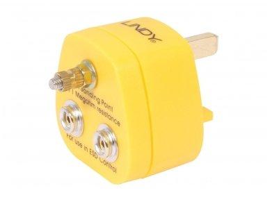 Lindy UK Anti-Static Earth Bonding Plug. 2 x Stud and 1 x M5 Post
