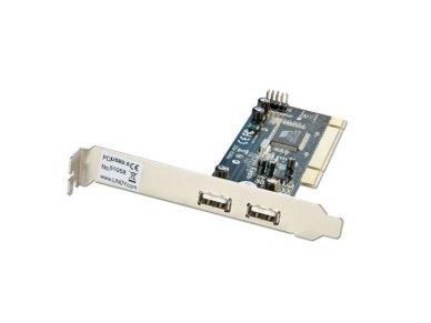 Lindy USB Card - 2+2 Port USB 2.0. PCI (32 Bit)