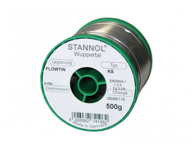 Lydmetalis, bešvinis 0.7 mm2, 500g Sn99Cu1+ML 227C