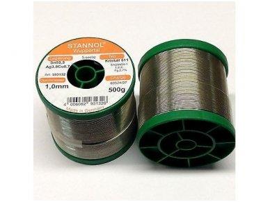 Lydmetalis ECO TSC-KR511-1.0 500g Sn95,5Ag3,8Cu0,7 2