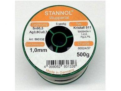 Lydmetalis ECO TSC-KR511-1.0 500g Sn95,5Ag3,8Cu0,7 3