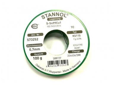 Lydmetalis STANNOL SN99.3Cu0.7100g 0.7mm 2