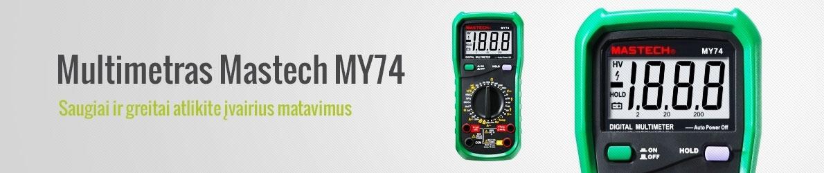 Multimetras Mastech MY74