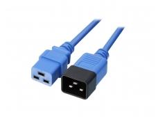 Maitinimo kabelis C19 - C20 16A 1m, mėlynas