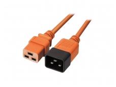Maitinimo kabelis C19 - C20 16A 1m, oranžinis