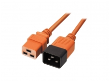 Maitinimo kabelis C19 - C20 16A 2m, oranžinis