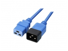 Maitinimo kabelis C19 - C20 16A 3m, mėlynas