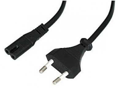 Maitinimo kabelis 2m C7, juodas Lindy 3