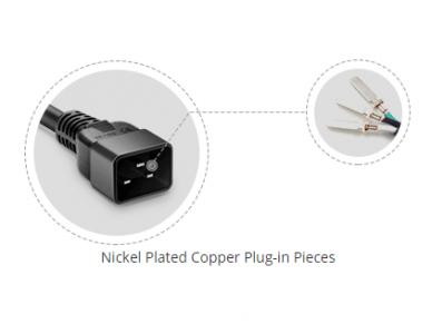 Maitinimo kabelis C20 - C13 15A 0.9m 4