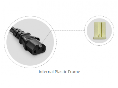 Maitinimo kabelis C20 - C13 15A 0.9m 5
