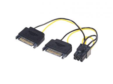 Maitinimo perėjimas 2xSATA M - PCI Express 6M, 0.15m