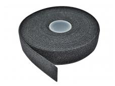 Medžiaginė tvirtinimo juosta 20mm, juoda, 5m
