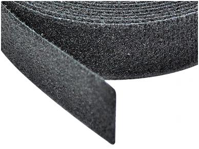 Medžiaginė tvirtinimo juosta 20mm, juoda, 5m 2