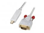 Mini-DisplayPort į VGA kabelis 1m 1920x1200, baltas