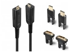 Micro HDMI 2.0, HDMI, DVI optinis kabelis 30m 4K 18G